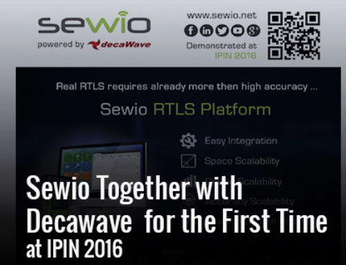 Sewio and Decawave  together at IPIN 2016 presenting RTLS-TDoA Platform